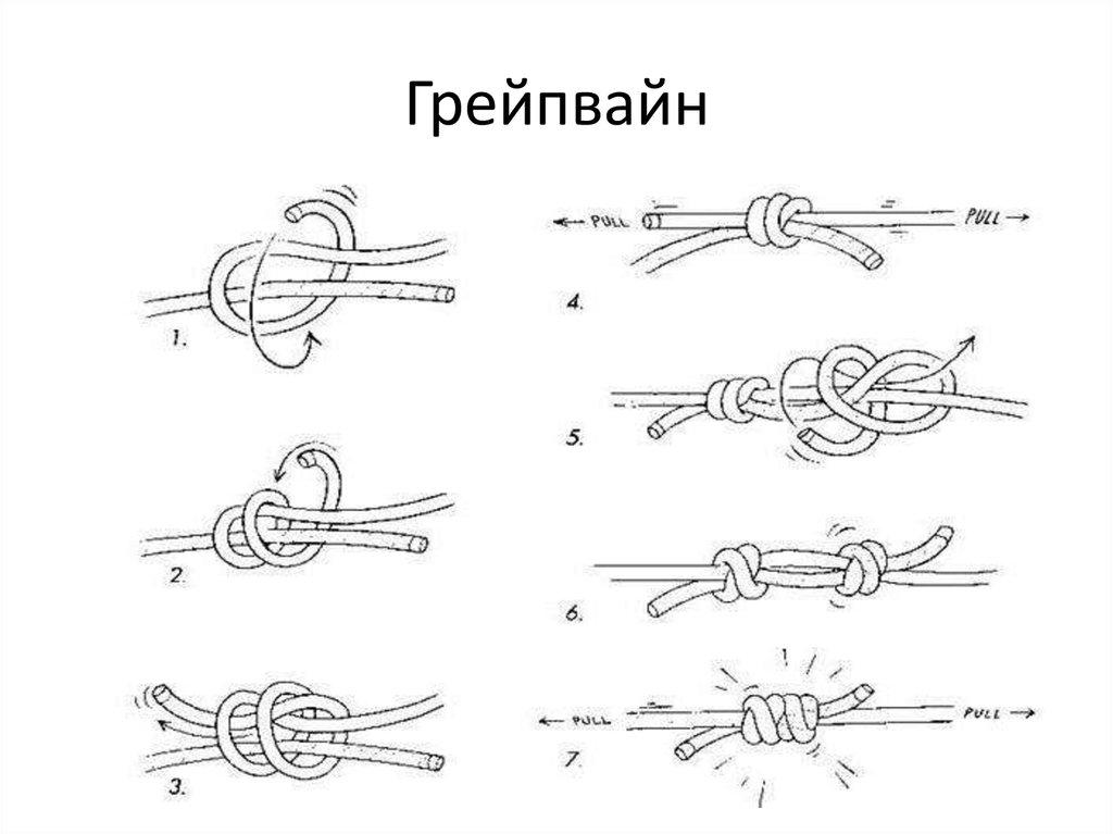туристические узлы как вязать в картинках взглянуть фото русской